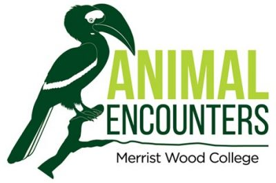 Animal encounters merits wood college logo