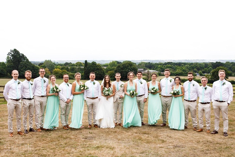 Merrist Wood wedding party