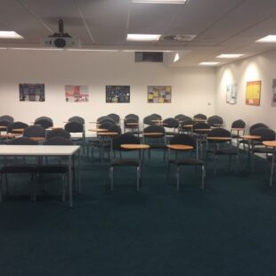 merits wood lecture room